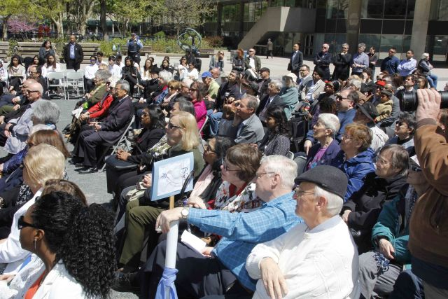 The audience at the May 18 rededication
