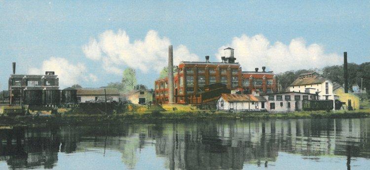 Postcard of Eldorado's Port Hope Refinery circa 1940