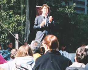 Justin Trudeau speaking at Toronto Peace Garden 25th anniversary event